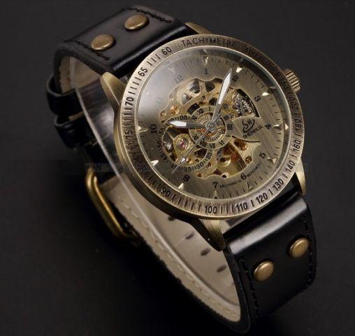 Vintage bronzové hodinky Isis 082613e454